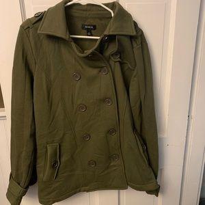 Green Torrid sweatshirt coat. Size 1.